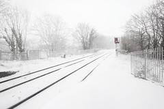 Snowy Tracks, Penryn Station (Andrew Hocking Photography) Tags: penrynstation penryn cornwall snow tracks minimal winter landscape train penryntrainstation snowy kernow falmouth blizzard stormemma