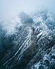 Freezing Fog (noberson) Tags: fog switzerland mountain hiking mist frozen freezing cold ice morning person human