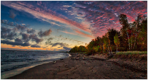 Sunrise on Lake Superior by Steve Ornberg - Award Class A Digital- January 2018