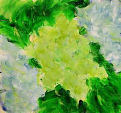 Seeing is Believing (BKHagar *Kim*) Tags: bkhagar art artwork painting paint acrylic hydrangea hydrangeas impressionist flower flowers floral plant fingerpainting