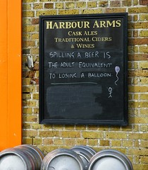 Wise words ;) (Graham Ó Síodhacháin) Tags: humorous pub sign margate harbour