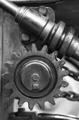 Gears (pfh2010) Tags: film blackwhite 35mm contax contaxn1 bury transport museum ilford panf