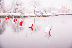 Winter (Maria Eklind) Tags: oskarshamn badholmen winter nature reflection spegling sweden outdoor boj weather snow snö småland scenery vinter water buoy kalmarlän sverige se