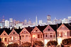 Painted Ladies At Dusk (Elise Lau) Tags: painted ladies san francisco bay area full house houses skyline city street streets cityscape scape skyscraper skyscrapers dusk night time nighttime life nightlife nights dark sunset blue hour