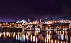 Presenting Another Chattanooga Light Show (Roland 22) Tags: nightphotography stunning colorful lightshow reflections marketstreetbridge tennesseeaquarium tennesseeriver chattanoogatennessee flickr