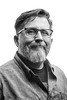 None Shall Pass... Gas (Rudy Malmquist) Tags: rudy malmquist rudolph portrait bw black white face smirk smile glasses grey beard middleage grandrapids michigan gr mi male man