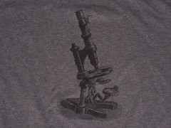 Microscope TShirt (craftyscientists51) Tags: geekshirt science shirt screenprint tiedye biology teacher teaching handmade