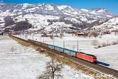 185 112 / Steinen (Daniel Schärer) Tags: daniel schärer steinen schwyz gotthardachse transit transitachse transitlinie br185 185 br185112 zügeimschnee sbbcargointernational 45075 13022018