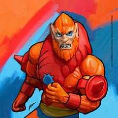 Beastman MOTU Masters of the Universe Pop Art painting (Howie Green) Tags: masters universe motu beastman merman pop art paintings toys