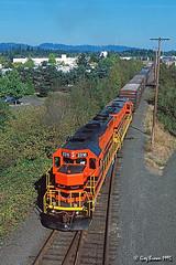Ironic (C.P. Kirkie) Tags: portlandwestern pnwr washingtoncountyoregon beaverton oregon geneseewyoming emd gp392 freighttrain railroads trains shortlinerailroad