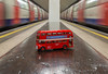 Transport for London (scarlet-pimp) Tags: londonunderground northernline composition bus london subterranean vanishingpoint clapham abstract claphamcommon symmetry routemaster metro perspective indoor england unitedkingdom gb londonist timeoutlondon timeout visitlondon tube
