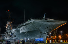 uss hornet alone at alameda point (pbo31) Tags: bayarea alamedacounty eastbay california night dark color nikon d810 february 2018 winter boury pbo31 alameda island black usshornet america navy aircraft carrier ferrypoint port museum harbor marine sail ship pier service forces military naval bay reflection