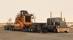 Oversize Load (ekawrecker) Tags: truck usa ut caterpillar d11 bulldozer dozer american conventional stealth kw interstate border town nevada enolagay wseries