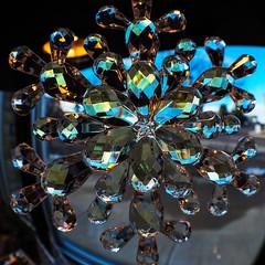 Refraction Fisheye (Thru Mikes Viewfinder) Tags: crystal snowflake refraction macro fisheye distortion christmas ornament olympus penf 8mm