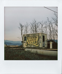 I'm just painting (Italian Film Photography) Tags: graffiti paint writing train railway cabin fil instant instax square lomoinstantsquare colors analogue
