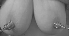 Nipple stretcher Both (Sexybrizzlecouple) Tags: piercednipple nipples pierced