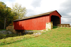 Illinois - Mary's River Covered Bridge (Jim Strain) Tags: jmstrain illinois marysriver coveredbridge bridge chester burrtruss