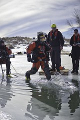 Ice Dive (NVenot) Tags: diver divers scuba under water underwater winter cold frozen ice icy dry suit full face mask interspiro aga fire rescue dive firefighter