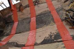 Edna Lockwood log-hull restoration (Chesapeake Bay Maritime Museum Photos) Tags: cbmm chesapeakebaymaritimemuseum edna e lockwood historic preservation historicchesapeakeboats bugeye floating fleet