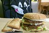 Grand Mac and two apple pies (Morton Fox) Tags: wilmington de mcdonalds food fastfood 510fav