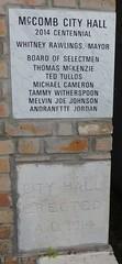McComb, Mississippi City Hall Cornerstone (courthouselover) Tags: mississippi ms cityhalls pikecounty mccomb northamerica unitedstates us townhalls