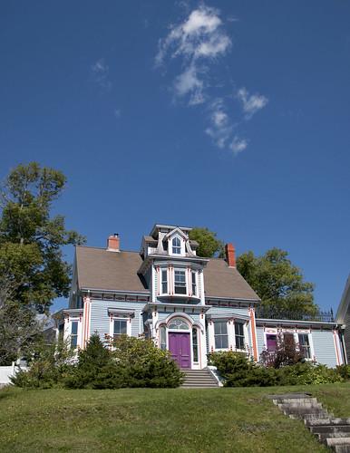 House with a Purple Door No.1 --  Lunenburg (NS) September 2107