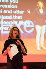 Former TEDxExeter Speaker, Gill Hayes, speaking at the TEDxExeter 2018 launch event at Royal Albert Memorial Museum (TEDxExeter) Tags: exeter tedxexeter tedx tedtalks exetercity devon ramm royalalbertmemorialmuseum technology entertainment design innovation speakers audience tedxexeter2018 tedxexeter2018launch tedxexeterlaunch sponsors crowd 2018 england eng