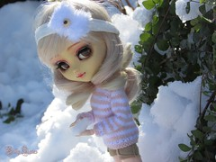 Ready... | 2 (Little Queen Gaou) Tags: pullip groove doll jun planning full custo fc artist girl snow artiste neige winter hiver battle bataille forest forêt nature photography photographie garden jardin