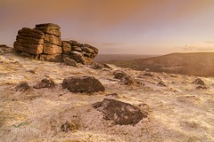 Savage Flurry (http://www.richardfoxphotography.com) Tags: houndtor dartmoornationalpark snow freezing frost snowing moorland tor sunrise outdoors