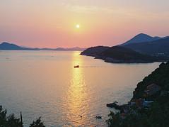 Voyage (spiridono) Tags: sea sunset sun light film ship croatia seascape medium format pastel dubrovnik