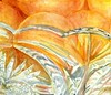 Oranges in Crystal (molossus, who says Life Imitates Doodles) Tags: watercolor oranges crystal bowl stilllife