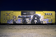 TA CREW (TRUE 2 DEATH) Tags: tacrew ta met longexposure boxcar train freight railroad benching railfan railcar trains graffiti graf railways tag freighttrain freighttraingraffiti rollingstock when arys