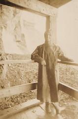 Under Niagara Falls 1930's (Bury Gardener) Tags: blackandwhite bw snaps scans 1930s sepia vintage oldies old usa america