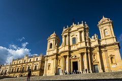Noto Cathedral (fede_gen88) Tags: noto cathedral duomo sicilia sicily blue sky italia italy polarizer baroque church sannicolò cattedrale xviiicentury nikon d7200
