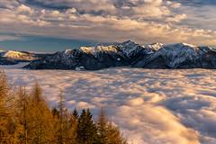 Über den Wolken.. (PhiiiiiiiL) Tags: locarno cardada ticino switzerland cloud mist sunset mountain snow last light lago maggiore lake cimetta landscape swiss schweiz nebelmeer