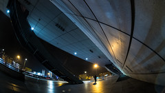 MC Peleng 8 mm f/ 3.5 A ( МС Пеленг 3,5/8А ) - DSCF4627 (::Lens a Lot::) Tags: fisheye mc peleng 8 mm f 35 a 6 blades aperture | m42 or nikon mount paris 2017 darkness underground noise night light street streetphotography white vintage manual prime fixed length classic lens ruelle personnes route bâtiment gate lignes train plafond russian color blue yellow red flare nuit ciel 2018 intersection