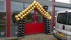 Ballonnenhuis goud zwart