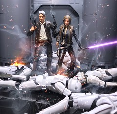 The Solos (chevy2who) Tags: jaina jedi figure action toyphotography toy series black star solo han wars