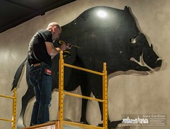 The Boar gets mounted (westervilleOH.IO) Tags: 8state inspection restaurantwestervilleohunitedstates