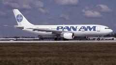 N861PAMIA12 (MAB757200) Tags: panam a300b4203 n861pa clipperamerica runway12 mia kjfk jetliner aircraft airplane airlines airbus airport