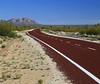 The point of no return (Robyn Hooz) Tags: pointofnoreturn cammino strada mojave california desert road via tar asfalto far lontano orizzonte horizon distance distanza