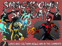 Smackdown Sunday- Martin Luther King Jr. Edition- Static VS Miles Morales Spider-Man (Luigi Fan) Tags: martin luther king jr day miles morales spiderman marvel comics vs static shock dc