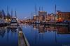 Cinclus (koos.dewit) Tags: nl fujifilm fujifilmxt2 fujinonxf1024mm groningen groningenoosterhaven koosdewit le oosterhaven thenetherlands bluehour boats citylights cityscape harbor koosdewitnl longexposure reflections ships water