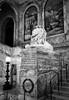 Guardian (trochford) Tags: lion statue sculpture staircase stairway mural indoor mckimbuilding bostonpubliclibrary nationalhistoriclandmark boston bostonma bostonmassachusetts ma massachusetts newengland unitedstates us usa bw bnw blackandwhite blackwhite noiretblanc blancoynegro mono monochrome canon canon6d ef24105mmf4lisusm ef24105