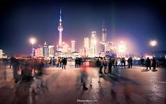 Ambling Along (Andy Brandl (PhotonMix)) Tags: shanghai china photonmix skyscrapers pudong longexposure night lights