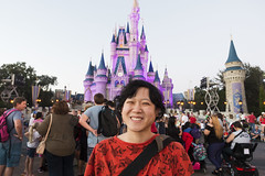 Me + Cinderella Castle (roboppy) Tags: orlando florida disneyworld waltdisneyworld wdw disney magickingdom themepark cinderellacastle robyn