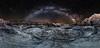 Sands of Time (Jeff Rowton) Tags: cosmic milkyway panorama badlandsnationalpark southdakota alien sandsoftime meteor nightsky otherworldly twb