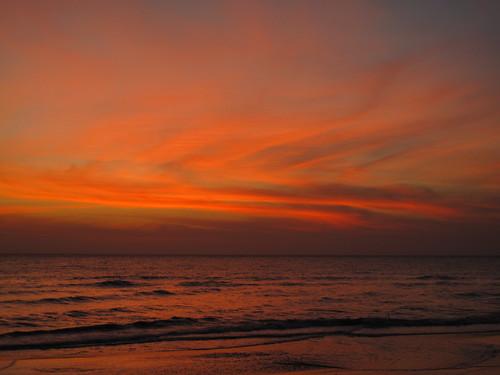 Dawn breaking from Aleenta Hua Hin, Pranburi, Thailand