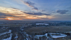 Pickeral Marsh in snow (Vagabond Photography WI) Tags: marsh winter sunset snow white drone dji phantom 4 pond vagabondphotography wisconsin walworthco easttroy clouds cold fridged