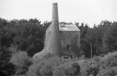 Echoes in Time (Kevin Pendragon) Tags: tinmines cornwall stone building chimney trees sky buzzard outdoors summer bw gorse heather industry